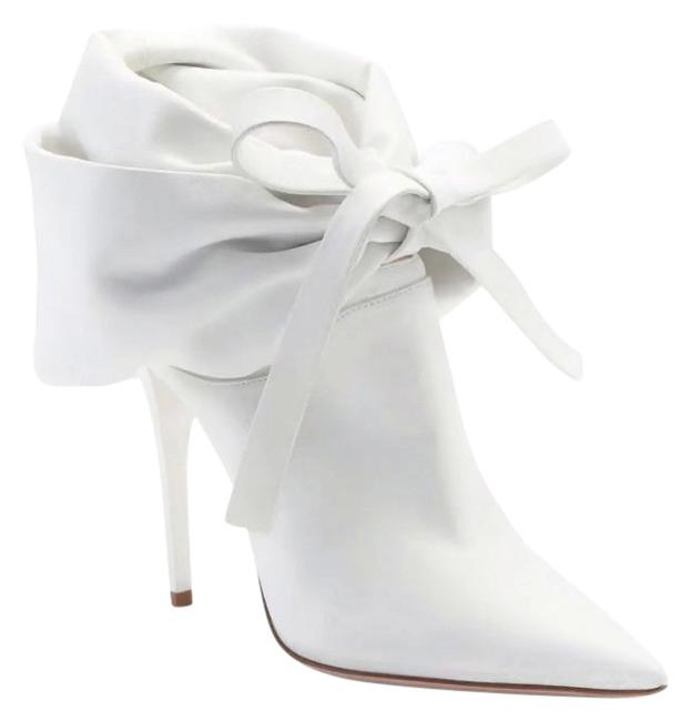 Item - White Pleated Slouch Boots/Booties Size EU 37 (Approx. US 7) Regular (M, B)
