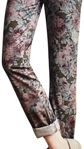 Anthropologie Relaxed Pants Floral