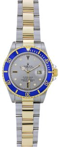 ROLEX 18K YELLOW GOLD AND STAINLESS STEEL ROLEX SUBMARINER SERTI-SLATE 40MM