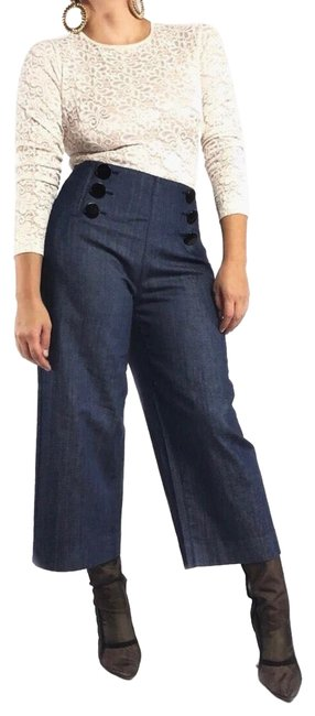 Preload https://img-static.tradesy.com/item/24826858/kate-spade-blue-dark-rinse-button-front-trouserwide-leg-jeans-size-6-s-28-0-1-650-650.jpg