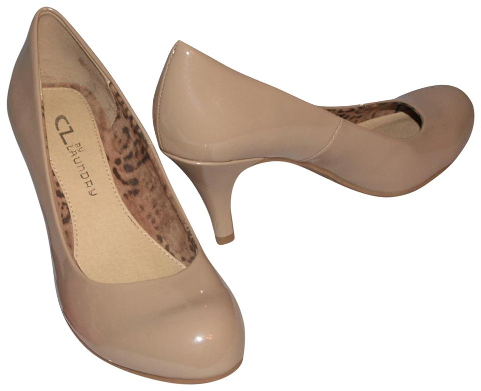 72490edf43d CL by Laundry Nude (Chinese Patent Nanette Style Pumps Size US 6.5 Regular  (M, B)