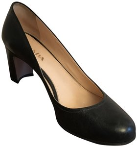 Prada Leather Forest Green Pumps