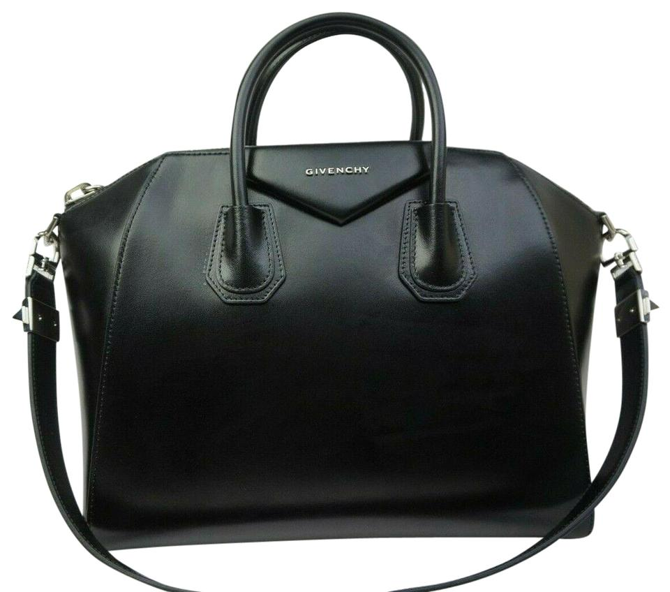 4837d77b5fda Givenchy Antigona Medium Shiny Tote Black Leather Satchel - Tradesy