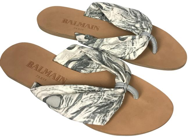Item - Gray Off White Made Donn Textile Slide On Sandals Size EU 38 (Approx. US 8) Regular (M, B)