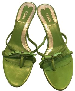 Fendi green Mules