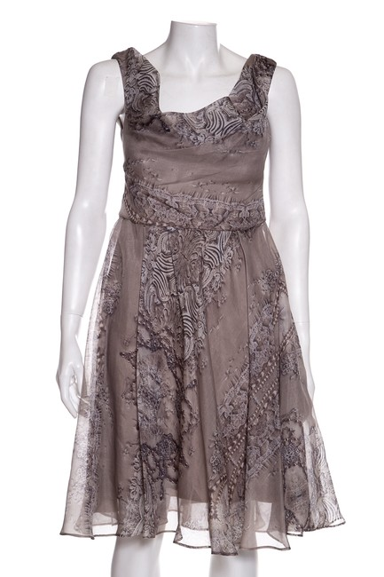 Item - Taupe Mid-length Night Out Dress Size 8 (M)