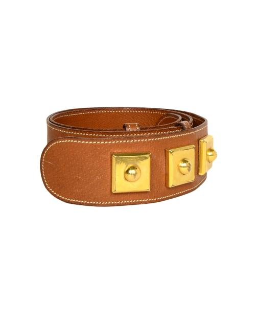 Item - Tan Leather with Gold Hardware S Belt