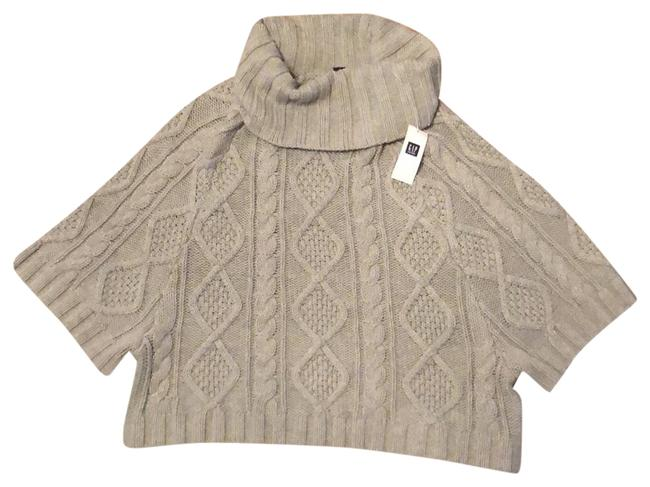 Gap Cable Poncho Style Gray Sweater Gap Cable Poncho Style Gray Sweater Image 1