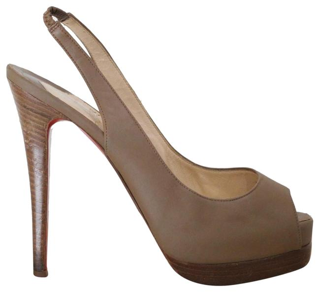 Christian Louboutin Brown Catenita Leather Sling Pumps Size EU 38 (Approx. US 8) Regular (M, B) Christian Louboutin Brown Catenita Leather Sling Pumps Size EU 38 (Approx. US 8) Regular (M, B) Image 1