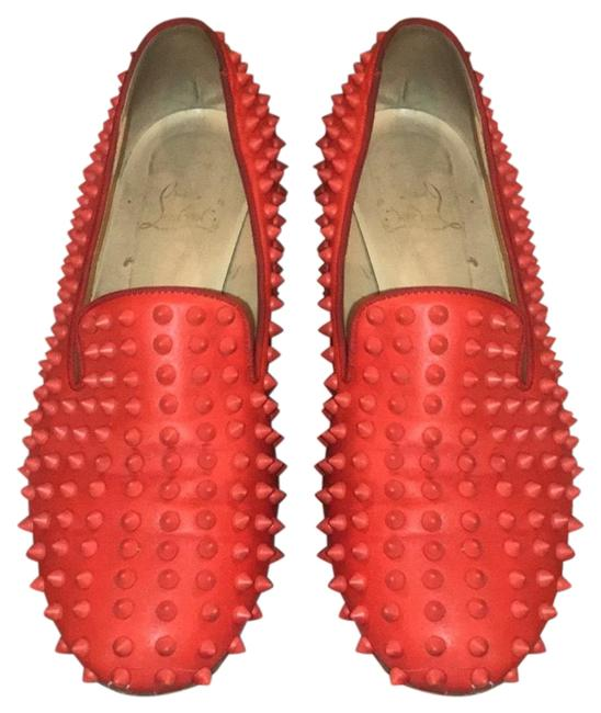Item - Red Rollerboy Loafer with Spikes Flats Size US 10.5 Regular (M, B)