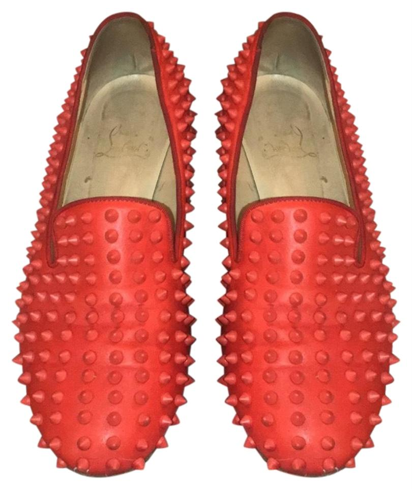 f9148e99bfe Christian Louboutin Red Rollerboy Loafer with Spikes Flats Size US 10.5  Regular (M, B)