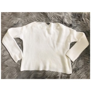 Vince Ribbing Chunky Cotton Boatneck Sweater