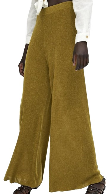 Item - Brown/Green High Waisted Flares Pants Size 4 (S, 27)