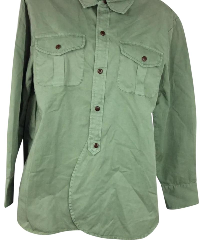 212895134e6cda Madewell Green Womens Button Small Hunter Patch Pocket Cotton B0391 ...