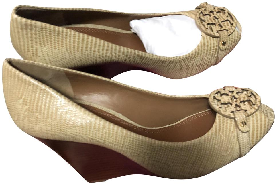 84c742c063c Tory Burch Camel Mini Miller Wedges Size US 10.5 Regular (M