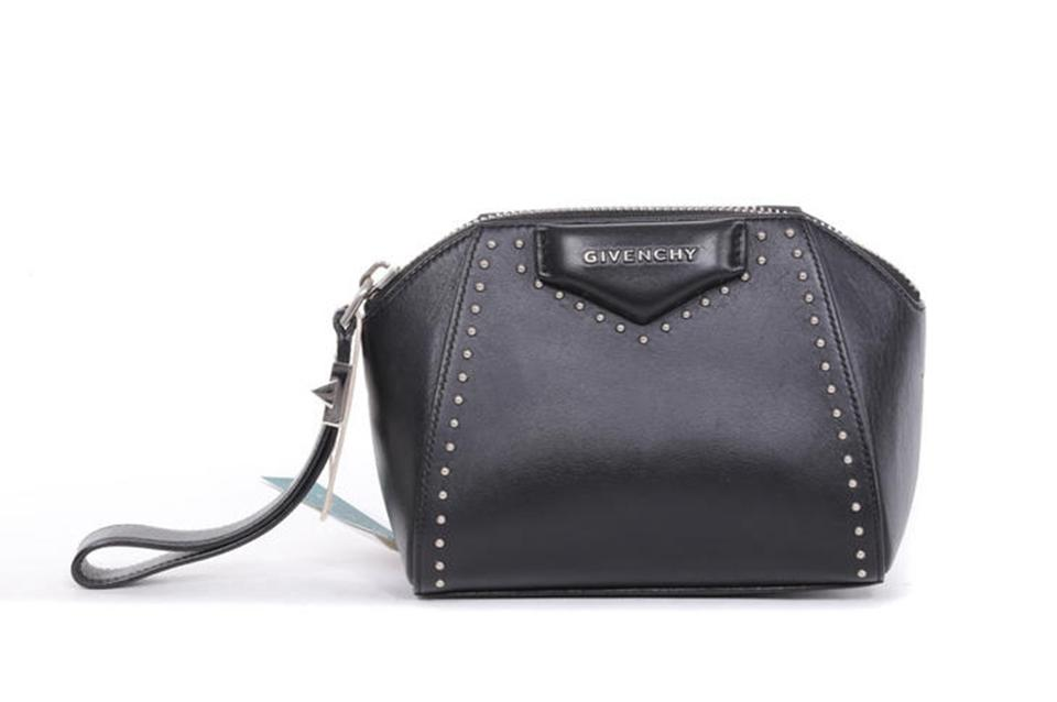 55fd17b52076 Givenchy Antigona Studded Black Calfskin Leather Clutch - Tradesy