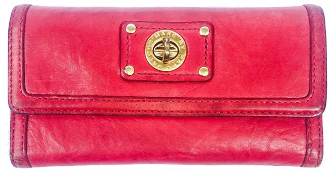 Marc by Marc Jacobs Red Leather Wallet Marc by Marc Jacobs Red Leather Wallet Image 1
