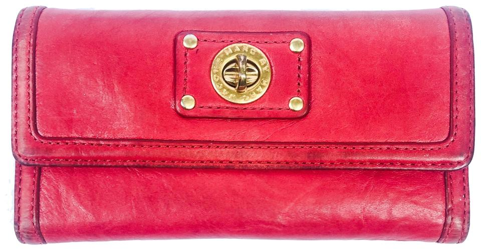 7fc49d286ff Marc by Marc Jacobs Marc by Marc Jacobs Red Leather Wallet Image 0 ...