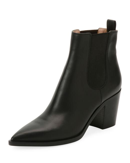 Gianvito Rossi Black Romney Leather Ankle Boots/Booties Size EU 38 (Approx. US 8) Regular (M, B) Gianvito Rossi Black Romney Leather Ankle Boots/Booties Size EU 38 (Approx. US 8) Regular (M, B) Image 1