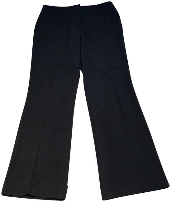Item - Black Trousers/Pants with Cuffs Pants Size 6 (S, 28)