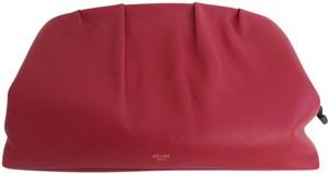 Céline Cherry Red Clutch