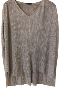 Eileen Fisher Top silver-gray