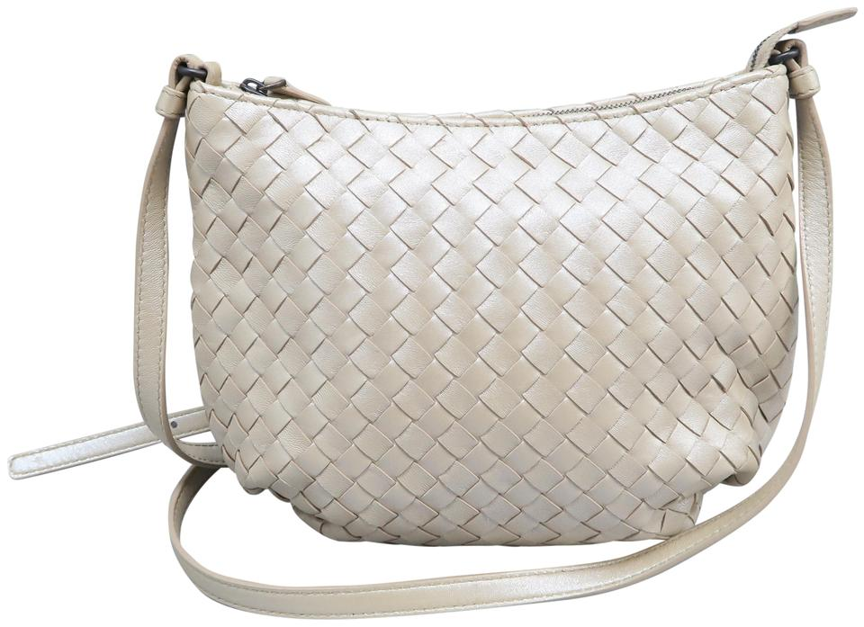 057f17877797 Bottega Veneta Intrecciato Peach Calfskin Leather Shoulder Bag - Tradesy