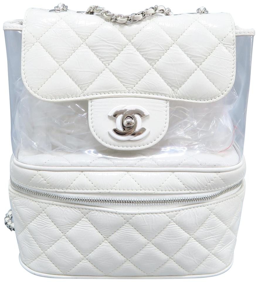 332f1ac7e1a8 Chanel Rare Mint Pvc White Calfskin Leather Shoulder Bag - Tradesy