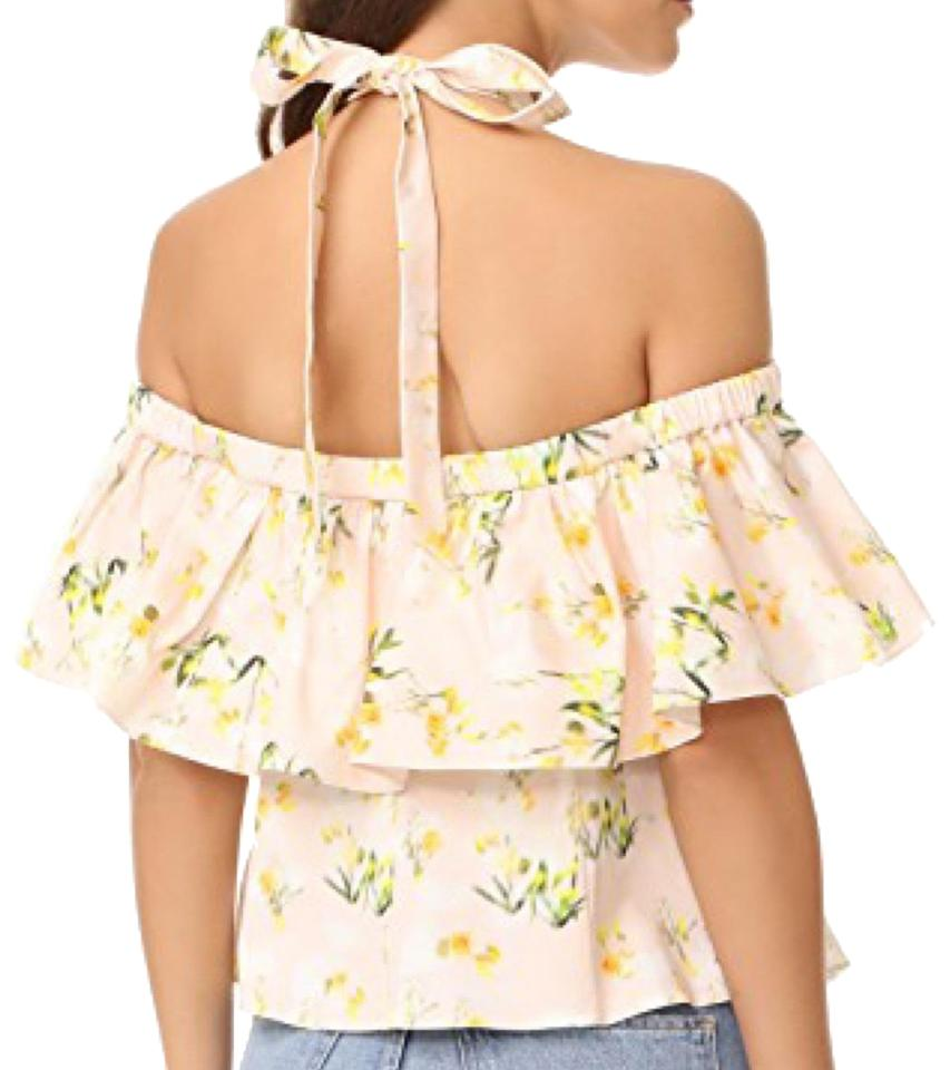 911d2b1451ed2 Rebecca Taylor Firefly Floral Cold Shoulder Halter Top Size 2 (XS ...
