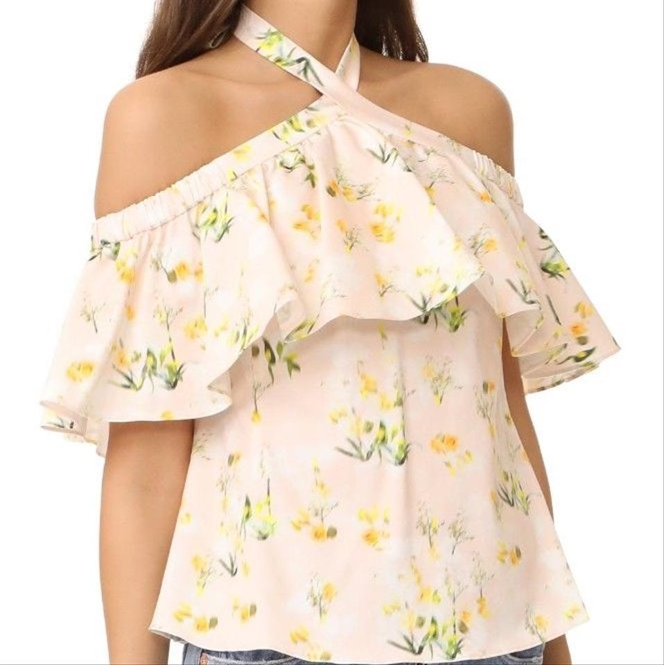 ba0fdfeb54183 Rebecca Taylor Firefly Floral Cold Shoulder Halter Top Size 2 (XS) - Tradesy