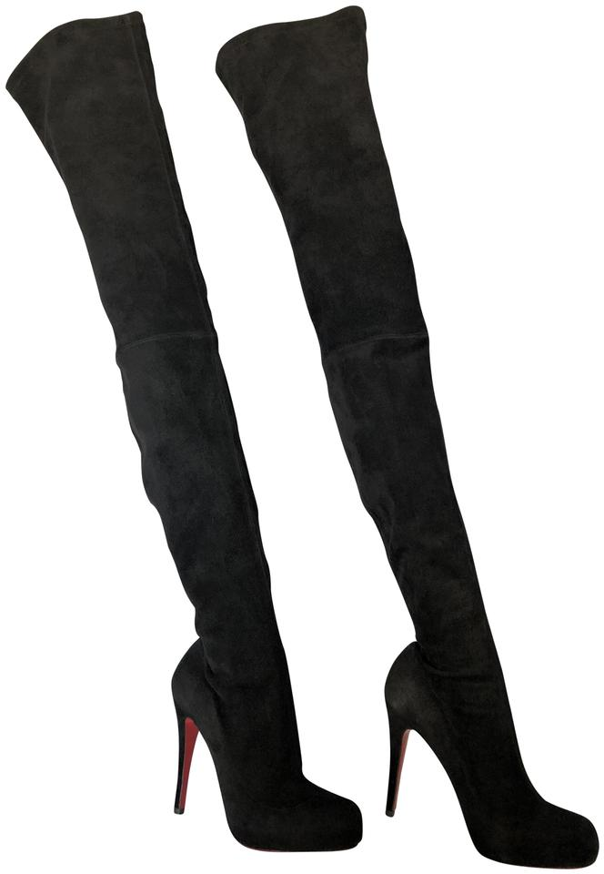 a857023695b Christian Louboutin Black 37it Thigh High Over Knee Heel Lady Toe ...