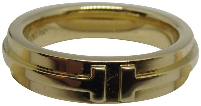 Tiffany & Co. 18k Yellow Gold T Two Band Size 6.5 Ring Tiffany & Co. 18k Yellow Gold T Two Band Size 6.5 Ring Image 1