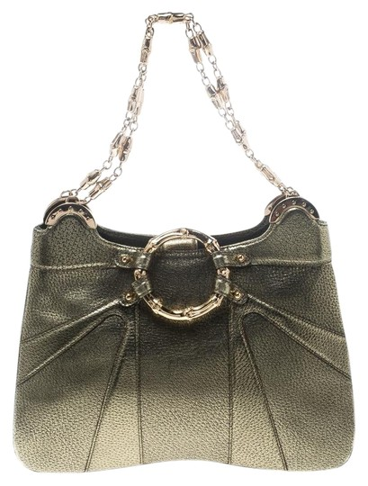 683f1f14ef1c Gucci Limited Edition Bamboo Tom Ford Gold Leather Shoulder Bag ...