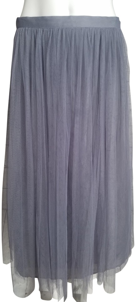 ae968a1331 Jenny Yoo Gray Bhldn Collection Hydragea Tulle Skirt Size 6 (S, 28 ...