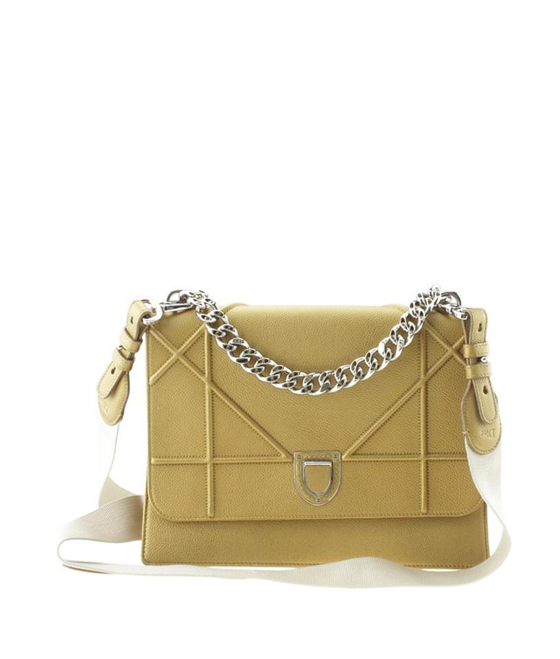 3d812f24c244 Dior (165913) Yellow Leather Shoulder Bag - Tradesy