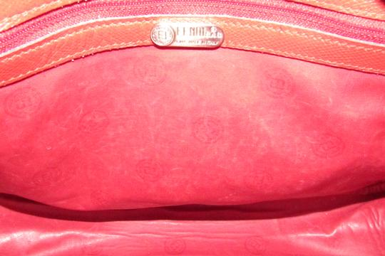 Fendi Mint Condition Top Handle Early Early Sas Cc/Leather Satchel in true red small F or 'Zucchino' logo print coated canvas and leather Image 2