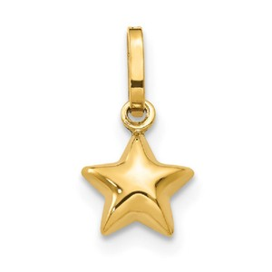 Apples of Gold ITALIAN 14K GOLD PUFFY STAR CHARM