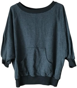 Forever 21 Dolman Sleeve Pouch Pocket Banded Cotton/Polyester Machine Wash Sweatshirt