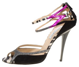 Jimmy Choo Suede Ankle Strap Multicolor Sandals