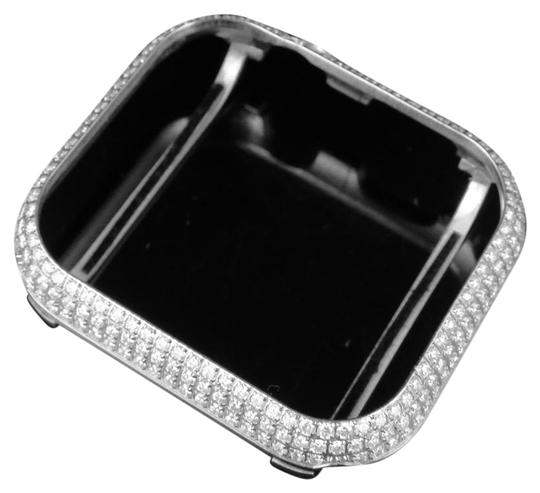 Jewelry Unlimited Mens Steel Series 4 Apple I-Watch VS Diamond 44MM Bezel Case 4.0 Ct Image 0