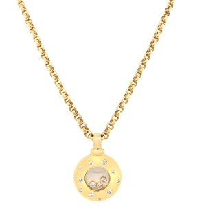 Chopard Chopard 18k Gold Happy Diamond Pendant Necklace