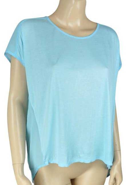 Preload https://img-static.tradesy.com/item/24829942/ambiance-apparel-blue-asymmetrical-high-low-sheer-blouse-size-6-s-0-1-650-650.jpg
