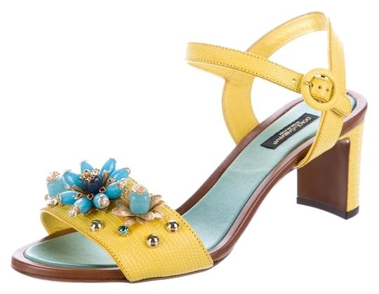 Preload https://img-static.tradesy.com/item/24830084/dolce-and-gabbana-yellow-embellished-sandals-size-eu-39-approx-us-9-regular-m-b-0-1-540-540.jpg