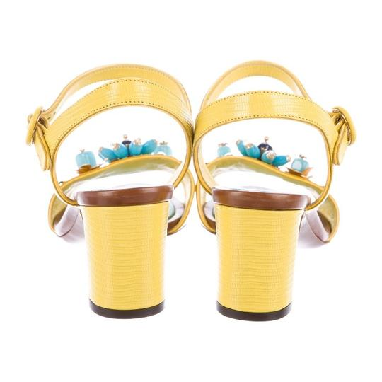 Dolce&Gabbana Yellow Sandals Image 3