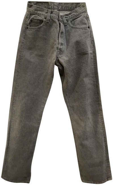 Item - Grey High Rise Levi Strauss Rare Vintage 501 -0652 Color Button Front. Straight Leg Jeans Size 28 (4, S)