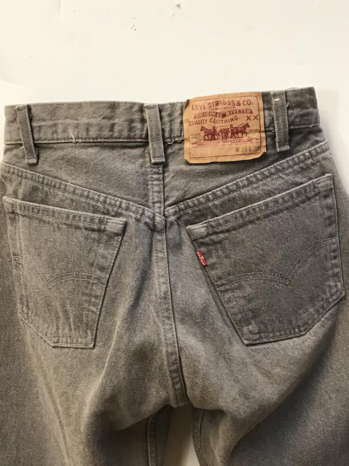 4bc0925b653 Levi's Grey High Rise Levi Strauss Rare Vintage 501 -0652 Color ...