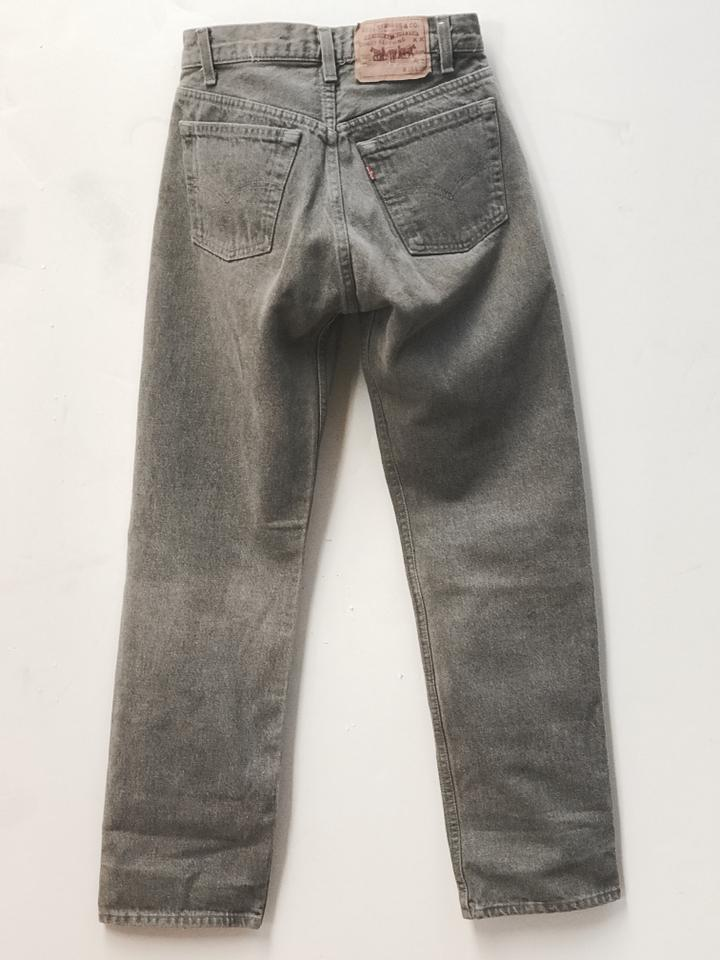9a7aca75cc4 Levi's Grey High Rise Levi Strauss Rare Vintage 501 -0652 Color Button  Front. Straight Leg Jeans Size 28 (4, S) - Tradesy