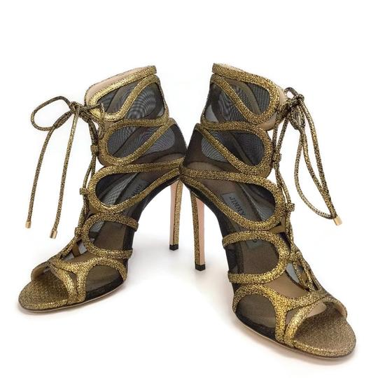 Jimmy Choo Gold Boots Image 5