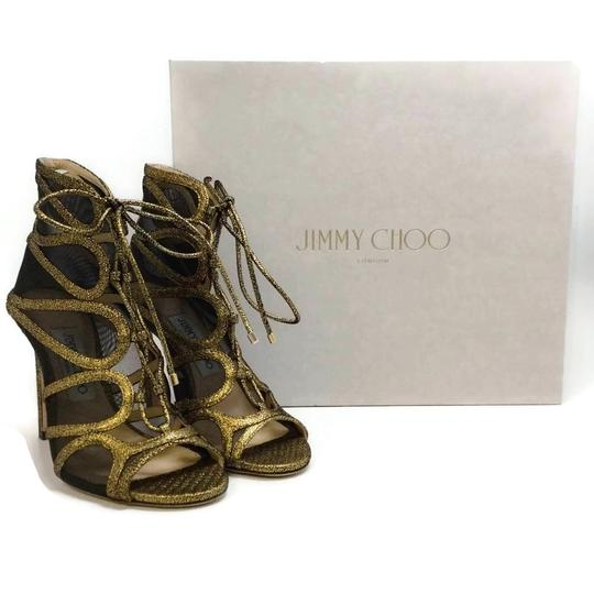 Jimmy Choo Gold Boots Image 9