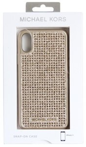 Michael Kors MICHAEL Michael Kors Studded iPhone X Case Gold